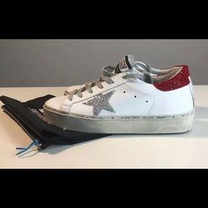 Brand New Golden Goose Hi Star Swarovski crystal